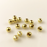 500 Gold  plated round spacer beads 4mm